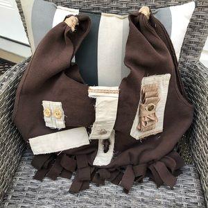 Khaki Brown Handcrafted Hobo Knot Bag